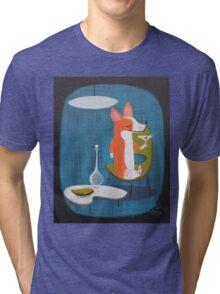 Corgi At Home Tri-blend T-Shirt