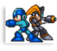 Megaman And Bass Canvas Print