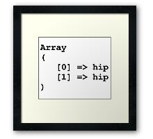 Hip Hip Hooray Programming Array  Framed Print