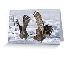 My wings are bigger than yours Greeting Card