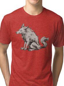 grumpy  morning wolf Tri-blend T-Shirt