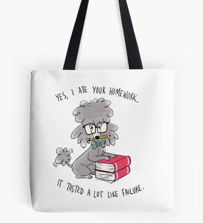 Professor Poodle Tote Bag