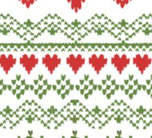 80's Christmas Knitted Sweater Design Sticker