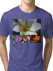 Flowering Bulbs Collage Tri-blend T-Shirt