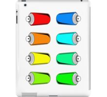 Spray Can Sticker Kit (8 Colorful Cans) iPad Case/Skin