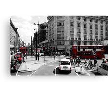 London - Black, White and Red Canvas Print