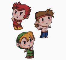 Final Fantasy Chibis - Fighter Trio! by TipsyKipsy