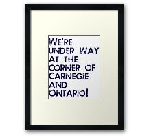 Carnegie and Ontario Framed Print