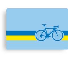 Bike Stripes Ukraine Canvas Print