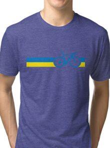 Bike Stripes Ukraine Tri-blend T-Shirt