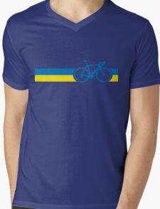 Bike Stripes Ukraine Mens V-Neck T-Shirt