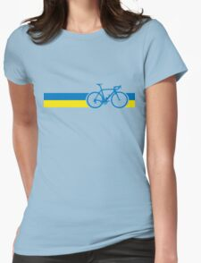 Bike Stripes Ukraine Womens Fitted T-Shirt