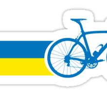 Bike Stripes Ukraine Sticker