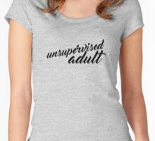 Unsupervised Adult - Ribbon - Light Women's Fitted Scoop T-Shirt