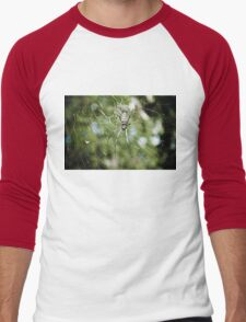 Large tropical spider in the web Men's Baseball ¾ T-Shirt