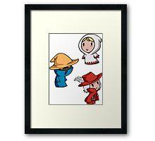 Final Fantasy Chibis - Mage Trio! Framed Print