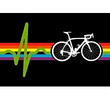 Bike Stripes Dark Side Photographic Print