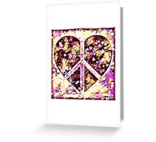 Peace Hearts Greeting Card