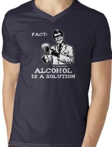 Alcohol is a Solution in Chemistry Mens V-Neck T-Shirt