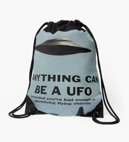 Anything Can Be A UFO 2: Electric Boogaloo Drawstring Bag