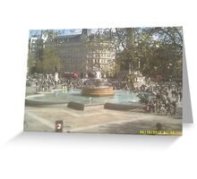 London Fountain Greeting Card