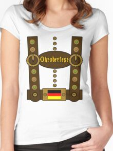 Oktoberfest Lederhosen Funny Women's Fitted Scoop T-Shirt