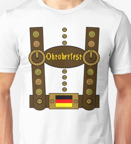 Oktoberfest Lederhosen Funny Unisex T-Shirt