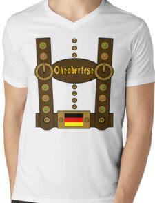 Oktoberfest Lederhosen Funny Mens V-Neck T-Shirt