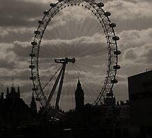 London Eye and Big Ben by GinevraEaton