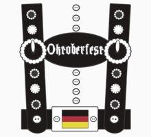Oktoberfest Lederhosen Funny BW by FireFoxxy