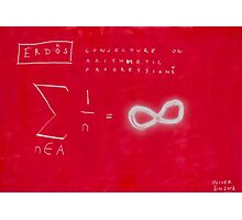 Conjecture On Arithmetic Progression With Paul Erdos Photographic Print