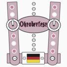 Oktoberfest Lederhosen Funny Pink by FireFoxxy
