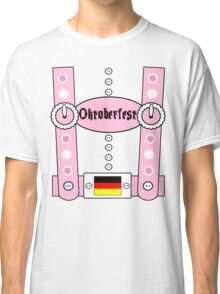 Oktoberfest Lederhosen Funny Pink Classic T-Shirt