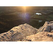 rock ledge. Photographic Print