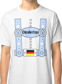 Oktoberfest Lederhosen Funny Blue Classic T-Shirt