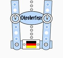 Oktoberfest Lederhosen Funny Blue Unisex T-Shirt