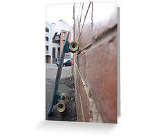 skateboard. Greeting Card