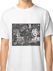 Marilyn doodle warm and cool grays Classic T-Shirt