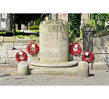 War Memorial, Repton Photographic Print