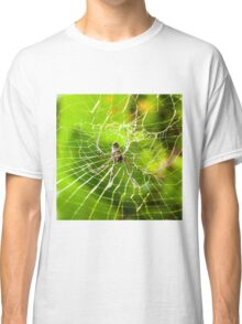 Large tropical spider in the web Classic T-Shirt