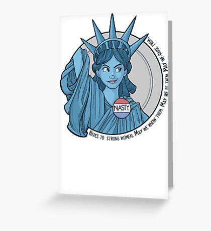 Nasty Lady Liberty Greeting Card