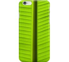 Close-up on Green banan leaf background iPhone Case/Skin