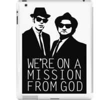 Blues Brothers - We're On A Mission From God iPad Case/Skin