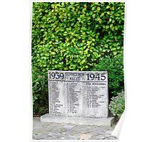 War Memorial Tablet, Shanklin Poster
