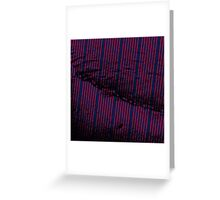 Vibrant Red stripes on bold blue background Greeting Card