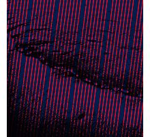 Vibrant Red stripes on bold blue background Photographic Print