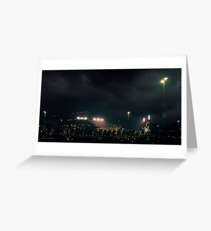 Giants stadium, but I see no giants.  Greeting Card
