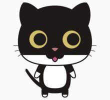 Black cat is happy One Piece - Short Sleeve