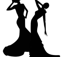 Fashion illustration fashion silhouette houte couture Vogue by MercedesP