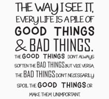 """Good Things & Bad Things"" - 11th Doctor Quote One Piece - Short Sleeve"